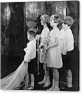 Children In A Wedding Procession Canvas Print