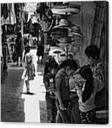 Children In The Rosarito Art Shops Canvas Print