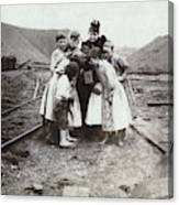 Children With Camera, C1900 Canvas Print
