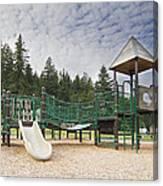 Childrens Playground At Lake Merwin Park Canvas Print