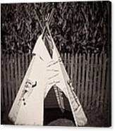 Childs Vintage Play Tipi Canvas Print