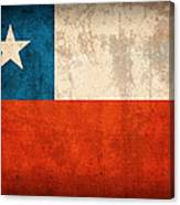Chile Flag Vintage Distressed Finish Canvas Print