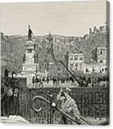 Chile. Valpara�so. Square In 1891 Canvas Print