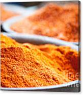 Chili Powder At Local Street Market In Dunhuang China Canvas Print