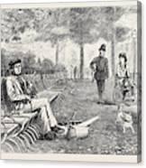 Chill October Rotten Row 1871 Canvas Print