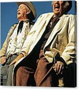 Chill Wills And Andy Devine Singing Atop A Stagecoach Old Tucson Arizona 1971 Canvas Print