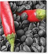 Chilli And Coffee Canvas Print