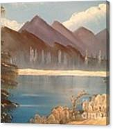 Chilly Mountain Lake Canvas Print