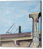 Chimney Pipe And Berkeley Sky Canvas Print