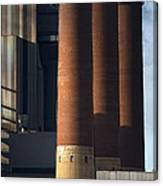 Chimneys Of Coal Power Station. Canvas Print