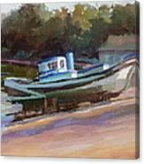 China Camp Boat Canvas Print