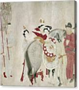 China Concubine & Horse Canvas Print