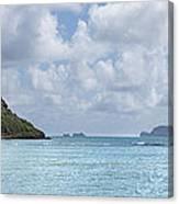 Chinamans Hat Panorama - Oahu Hawaii Canvas Print