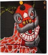 Chinatown Dragon Mural Canvas Print