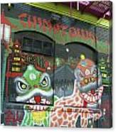 Chinatown Foo Dog Mural Canvas Print