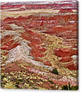 Chinde Point In Painted Desert In Petrified Forest National Park-arizona Canvas Print