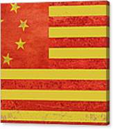 Chinese American Flag Canvas Print