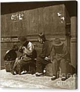 Chinese Cobbler San Francisco California Chinatown Circa 1900 Canvas Print