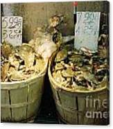 Chinese Crabs For Sale Canvas Print