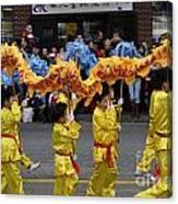 Chinese Dragon Dancers Canvas Print