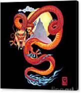 Chinese Dragon on Black Canvas Print
