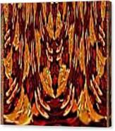 Chinese Folk Ethnic Opera Drapes Decoration Dancing Golden Abstract Signature   Art  Navinjoshi Arti Canvas Print