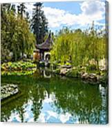 Chinese Garden And Sky Canvas Print