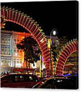 Chinese New Year 2012 Dragon Sculpture Decoration Panorama Canvas Print
