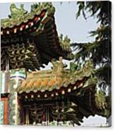 Chinese Temple Roofs Canvas Print