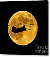 Chinook Moon Color Canvas Print