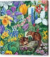 Chipmunk Garden Canvas Print