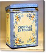 Chocolat En Poudre Canvas Print