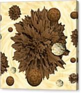 Chocolate Asteroids Canvas Print