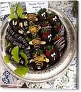 Chocolate Berries Canvas Print