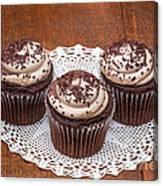 Chocolate Caramel Cupcakes Canvas Print