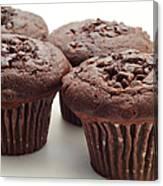 Chocolate Chocolate Chip Muffins - Bakery - Breakfast Canvas Print