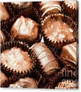 Chocolate Makes The World Go Around Canvas Print