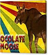Chocolate Moose Canvas Print