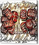 Chocolates - Illustration - Dish - Candy Canvas Print