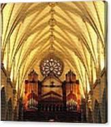 Choir Loft At Saint Josephs Cathedral Buffalo New York Canvas Print