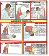 choking first aid chart photograph by gwen shockey Choking First Aid Sweep choking first aid chart canvas print