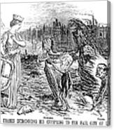 Cholera Cartoon, 1858 Canvas Print