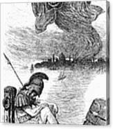 Cholera Cartoon, 1883 Canvas Print