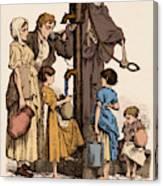 Cholera-infected Pump, 1854 Canvas Print