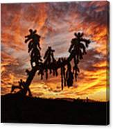 Cholla In Flame Canvas Print