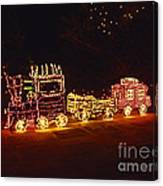 Choo Choo Train In Lights Canvas Print