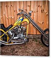 Chopper Custom Built Harley Canvas Print