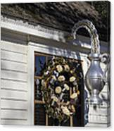 Chownings Tavern Wreath Canvas Print