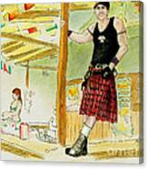 Chris At The Broken Spoke Saloon Canvas Print