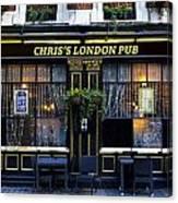 Chris's London Pub Canvas Print